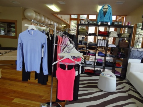 Pilates and yoga clothing at the Core Store